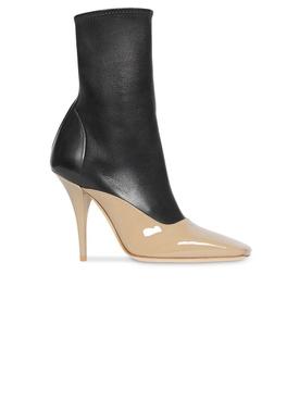 two-tone stiletto boots