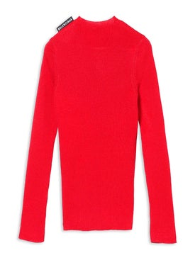 Balenciaga - Red Crewneck Sweater - Women