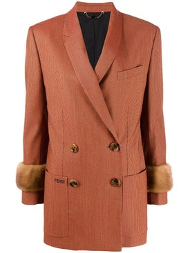 Fendi - Double Breasted Jacquard Blazer - Women