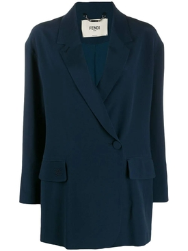 BLUE SILK BLAZER