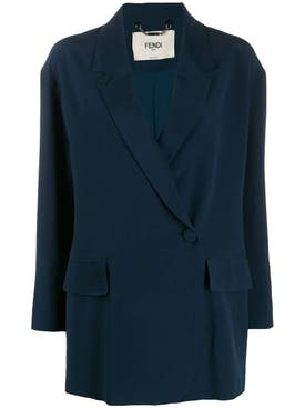 Fendi - Blue Silk Blazer - Women