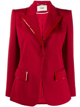 Fendi - Red Single Button Blazer - Women