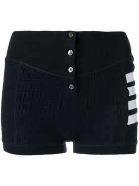 Thom Browne - Compact Waffle Shorts - Women