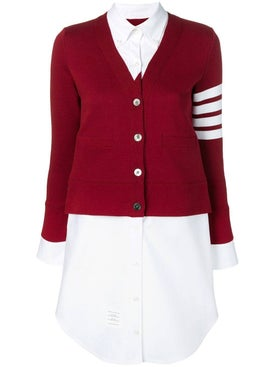 Thom Browne - Trompe L'oeil Cardigan Shirtdress - Women