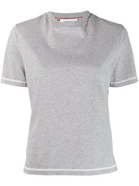 Thom Browne - Grey Contrast Stitch T-shirt - Women
