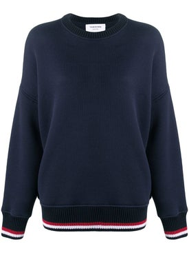 Thom Browne - Over-sized Cricket Striped Sweatshirt - Women