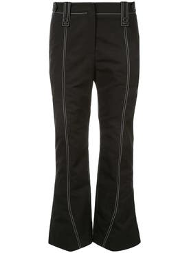 Givenchy - Stitch Detail Kick Flared Trousers - Women