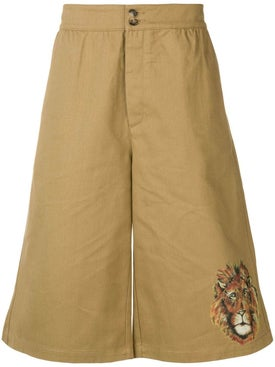 Loewe - Lion Printed Shorts - Men