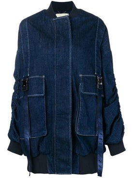 Fendi - Over-sized Denim Bomber Jacket - Women