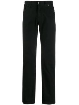 Black ff print jeans