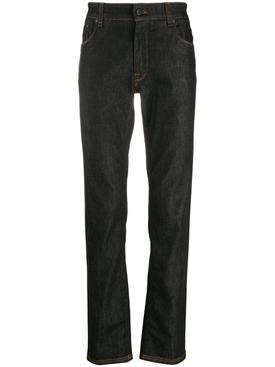 pocket logo slim fit jeans