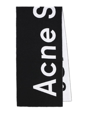 Acne Studios - Black And White Logo Scarf - Women