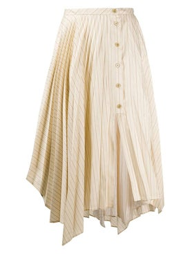 Acne Studios - Neutral Striped Midi Skirt - Women