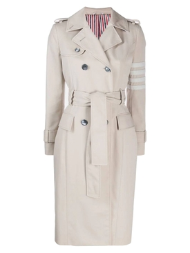 Thom Browne - Neutral 4-bar Trench Coat - Women