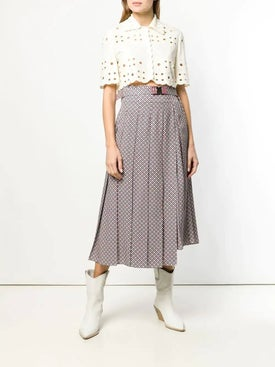 Fendi - Belted Pleated Skirt Pink - Women