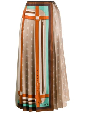 Fendi - Multicolored Monogram Wrap Skirt - Women