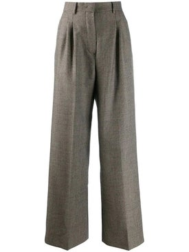 Fendi - Grey Houndstooth Trousers - Pants