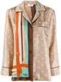 Fendi - Multicolored Monogram Pajama Shirt - Long Sleeved