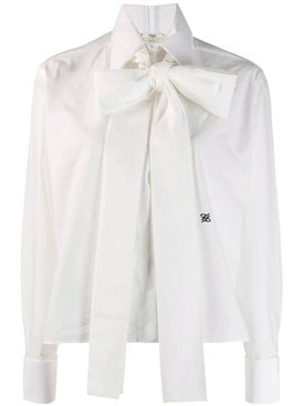Fendi - Maxi Bow Taffeta Blouse - Women