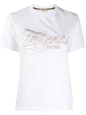 Embroidered FF Karligraphy t-shirt