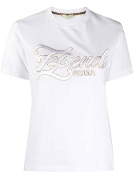 Embroidered FF Karligraphy t-shirt