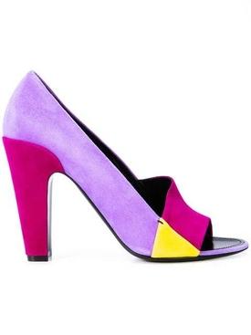 colour block sandals PURPLE