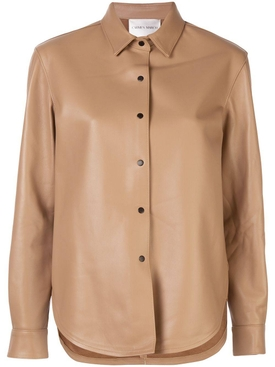 Carmen March - Beige Leather Shirt - Women