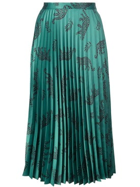 Hvn - Tracy Pleated Skirt Green - Women