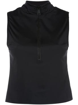 Natasha Zinko - Colorblock Zipped Sleeveless Top - Sleeveless