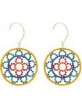 Area - Crystal Cupchain Crochet Earrings Multicolor - Women