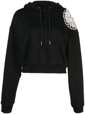 Area - Embellished Shoulder Hoodie - Women