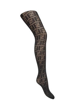 Fendi - Logo Print Tights Black - Socks