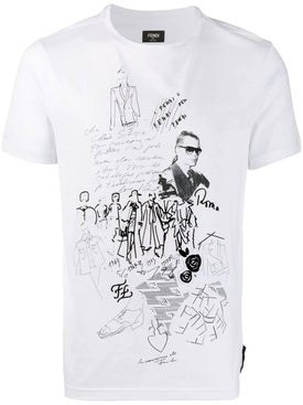 Fendi - Karl Kollage T-shirt - Men
