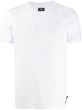 Fendi - Ff Tonal Logo T-shirt White - Men
