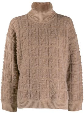 Fendi - Beige Ff Logo Sweater - Women