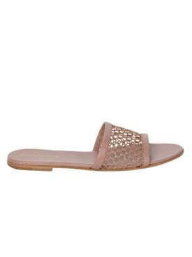 Beige Praline slip-on sandal