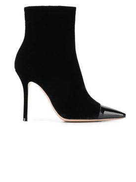 Gianvito Rossi - Toe-cap Velvet Ankle Booties - Women