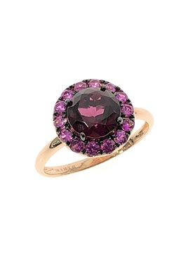 Rosa De La Cruz - Round Garnet And Pink Sapphire Ring - Women