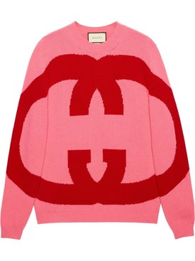 Gucci - Wool Sweater With Interlocking G - Women