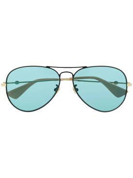 Gucci - Blue Tone Aviator Sunglasses - Women