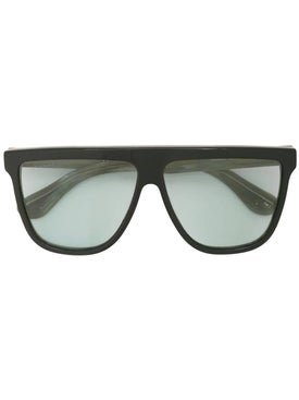 Gucci - Black And Green Rectangular Sunglasses - Sunglasses