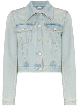 Gucci - Embroidered Tiger Cropped Denim Jacket - Women
