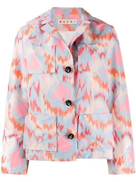 Marni - Multicolored Abstract Print Jacket - Women