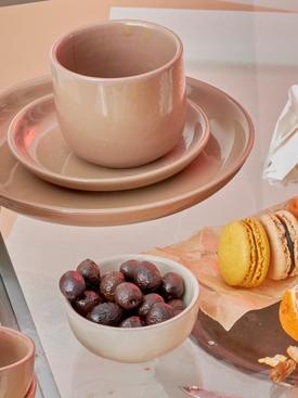 GIRO Ceramics Assiete A Entree DARK BEIGE