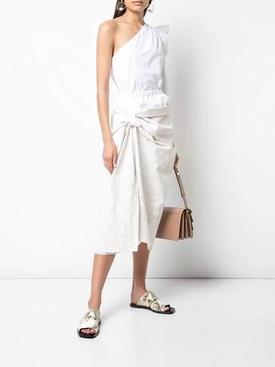knot detail skirt WHITE