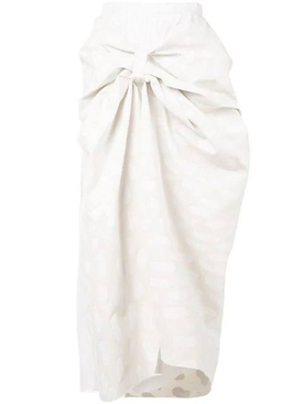 knot detail skirt WHITE