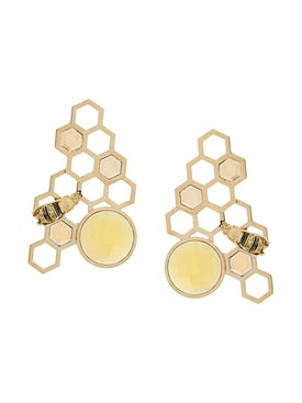 Delfina Delettrez - 9kt Yellow Gold To Bee Or Not To Be Earrings - Women
