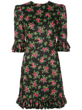 The Vampire's Wife - Floral Mini Festival Dress - Mini