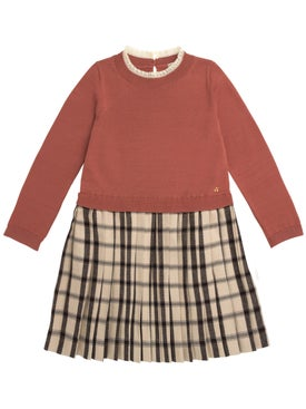Bonpoint - Kids Two Tone Sweater Dress - Kids