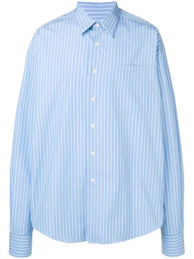 Ami Alexandre Mattiussi - Sky Blue Striped Shirt - Men